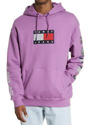 Nwt Mens Tommy Jeans 3m Sport Tech Logo Pullover Hoodie Sz L 150