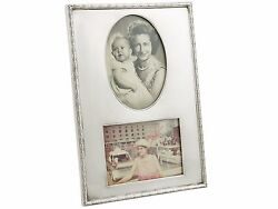 Sterling Silver Double Photo Frame - Antique George V 1913