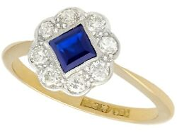 Antique Sapphire And Diamond 18ct Yellow Gold Dress Ring