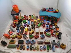 Thomas And Friends Huge 80pc. Lot Of Trains Accessories Sodor Toys Station