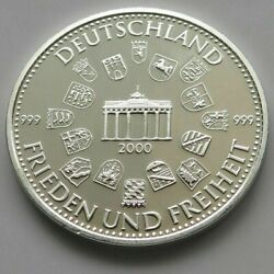 Germany Silver 999 Proof Medal 1999 Bundestag 16 G 34 Mm W7 125