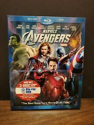 Marvels The Avengers Blu-ray + Dvd New And Unopened 2012 Both W/ Bonus Features