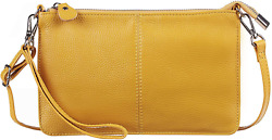 Gostwo Genuine Leather Wristlet Clutch Wallet Purse Small Crossbody Bag for Wome $19.99