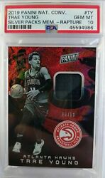 2019 Panini Trae Young - Silver Packs / Patch / 13/50 Psa 10 Pop 1