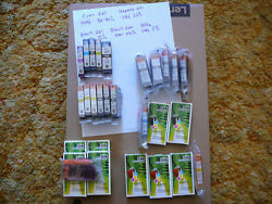 28 Canon 220 221 Ink Cartridges 5 Used 6 New Genuine And 17 New Aftermarket