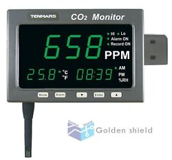 Tenmars Large Led Screen Co2 Andtemperature And Rh Monitor Tester Tm-186✦kd