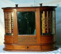 Merrick Twin Revolvng Turbine Sewing Thread Spool Cabinet General/country Store