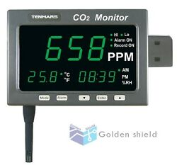 Tenmars Large Led Screen Co2 And Temperature And Rh Monitor Tester Tm-186d✦kd