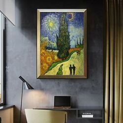 Imitating Van Goghand039s Famous Painting The Road With Cypress Trees