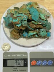 330 G Of Famous Pilot Mountain Turquoise From Bell.