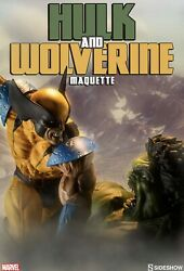 Sideshow Exclusive Hulk Vs Wolverine Maquette Statue Sold Out