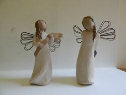 Willow Tree 2001 Angel Of Autumn And 2002 Thank You Demdaco