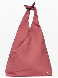 NWT Lululemon Women#x27;s Cross It Off Tote 20L Cherry Tint Pink Bag Purse Shoulder $54.99