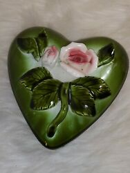 Vintage 50's Japan Royal Sealy China Heart Shaped Valentine's Day Candy Box