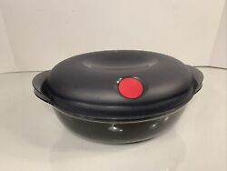 Tupperware Heat 'n Serve Oval Container Gray 8 1/4 Cups / 2l /