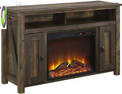 Ameriwood Home Farmington Electric Tv Console For Tvs Up To 50, Rustic,1794096