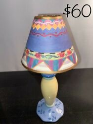 Inspired Lamp With Parchment Shade Perfect Condition, Mackenzie Childs Napkin