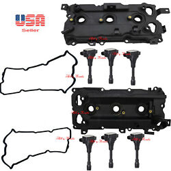 2 Valve Cover With Gasket And 6 Ignition Coil W/pigtail Fit Infinity Nissan Vq35hr