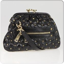 Marc Jacobs Dark Brown Quilted Printed Python Leather Stardust Little Stam Bag