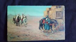 Antique Oil Painting Signed Haag