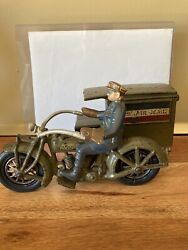 1930's Hubley Indian Motorcycle Air Mail Truck