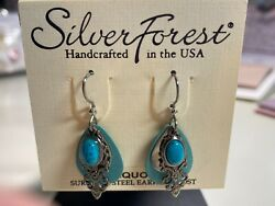 Silver Forest Turquoise Earrings