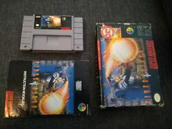 Firestriker Super Nintendo Snes Game Complete With Cartridge Box And Manual Rare