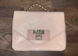 Brand New And039deco-tand039 Mini Patent Leather Chain Bag Small Blush 350