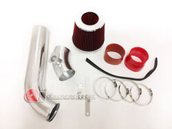Red Cold Air Intake Kit And Filter For 1992-1998 Bmw E36 3-series I6