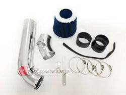 Black Blue Cold Air Intake Kit And Filter For 1992-1998 Bmw E36 3-series I6