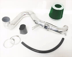 Black Green Cold Air Intake Kit And Filter For 2007-2009 Toyota Yaris S 1.5l L4