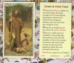 Saint Rocco Roch With Prayer To St. Rocco - Laminated Holy Card 800-1271