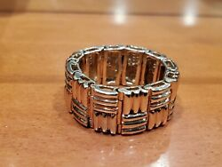 14k Yellow Gold Ring Vintage Estate One Of A Kind Mens Flexible Ring Sz 10.5