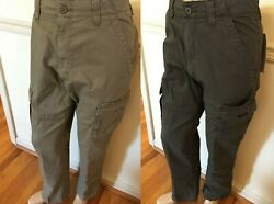 Nwt Menand039s Wrangler Cargo Relaxed Fit Rip-stop Abw Od By Tech 7 Pocket Pants Flex