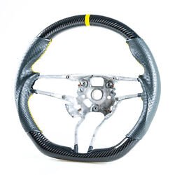 Carbon Leather Yellow Steering Wheel For Porsche 911 718 Boxster Cayman Macan S