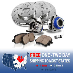 Front Brake Rotors Hub Bearings And Pads For Deville Bonneville Impala Monte Carlo