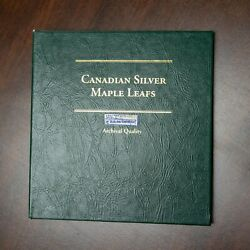 18 Canadian Silver Maple Leafs In Collection Book 1988-2006 1 Oz. .999 Bullion