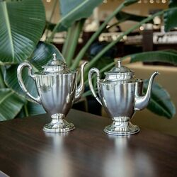 Vintage San Francisco Mexico Liceves .925 Sterling Silver 2pc. Coffee And Tea Pot