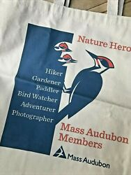 CANVAS TOTES 2 jute amp; organic Mass Audubon amp; Science themes $12.99