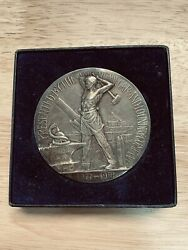 Wwi Service Medal To Am. Car And Foundry Co. Management In .925 Silver By Gorham