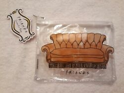 NWT Friends Couch Clear Cosmetic Bag Pouch $12.98