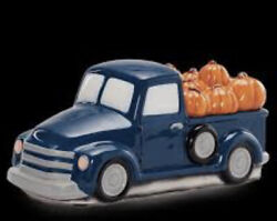 Scentsy PUMPKIN DELIVERY Blue Truck Warmer With Pumpkin Lid New in Box