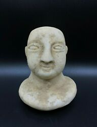 Old Ancient Antique Marble Stone Greekand039s Bactrian Idol Figure Rare Unique