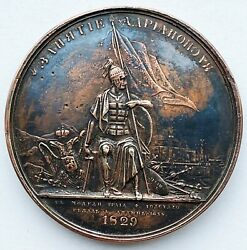 Imperial Russian Bronze Medal 1829 Russo-turkish War Klepikow And Tolstoi