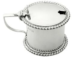 Antique George V Sterling Silver Drum Mustard Pot By Thomas Bradbury And Sons 1918