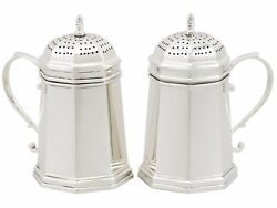 Antique Pair Of American Sterling Silver Kitchen Peppers By And Co