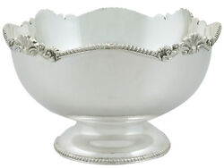 Vintage 1980s Sterling Silver Bowl By Mappin And Webb