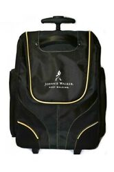 Johnnie Walker Keep Walking Carry-on Roller Travel Bag Black With Gold Trim New