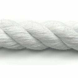 12mm Natural Optic White Cotton Rope By The Metre 3 Strand Cord Pure Cotton