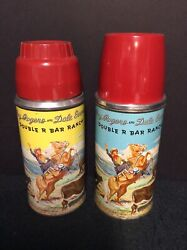 Two2 Vintage Roy Rogers And Dale Evans Lunchbox Thermos Bottles